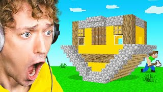 My MINECRAFT HOUSE Is UPSIDE DOWN!