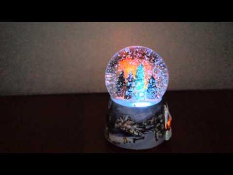Snow Spray Windup Snowball & XMax Music Box