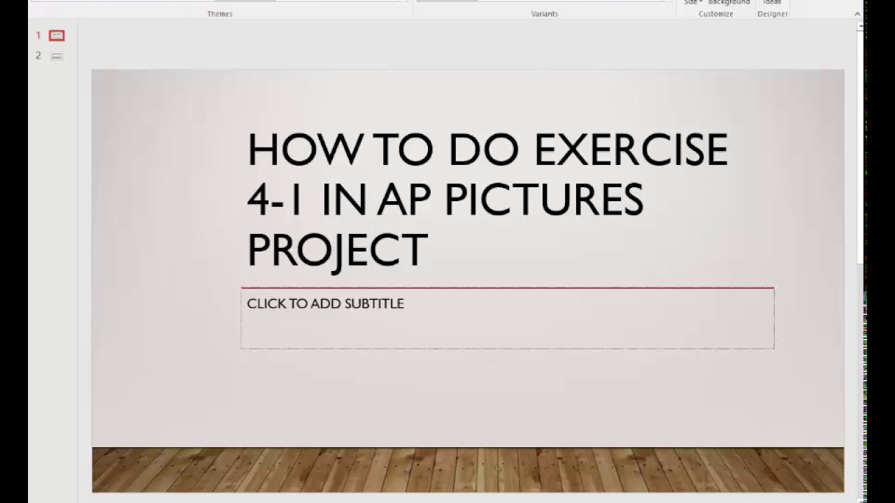 How to do AP Pictures 4-1 - YouTube