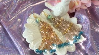 Doreenbeads Jewelry Making Tutorial - How to Make Great Glass Loose beads Tassel Earrings