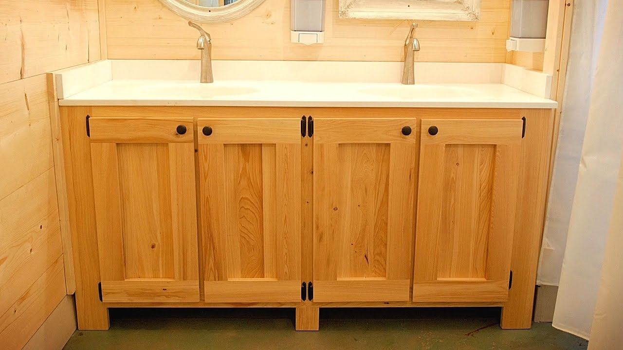 How To Make A Bathroom Vanity Cabinet How To Build A Bathroom Vanity Woodworking Diy