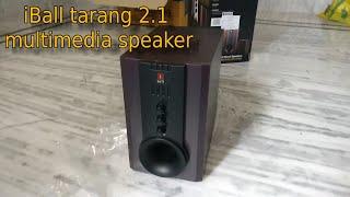 iBall Tarang 2 1 Multimedia speaker Unboxing amp Review