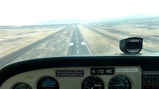 Landing in Elko, NV (KEKO) on Runway 5 in a Cessna 172 (N172WE)