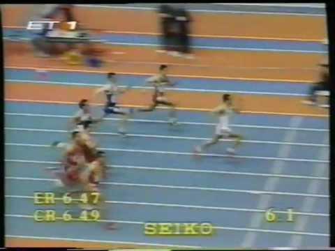 Korkizoglou Prodromos 1998 European Indoor Championships Valencia 60m heptathlon