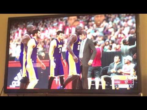 NBA 2K17 - Lakers vs Rockets (4 Shaq, 2 Magic, 2 Kobe vs Lin/Yao/Yi)