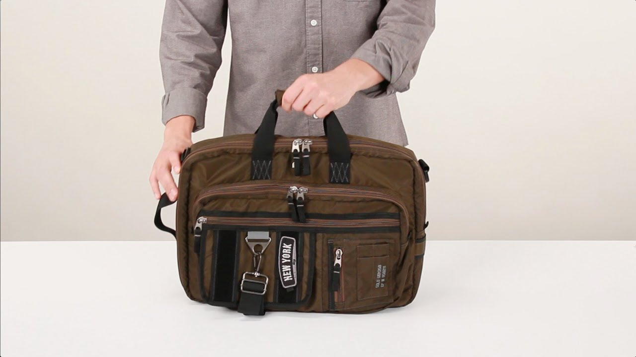 Zone Briefcase   Backpack Hybrid - UBN350 - YouTube 0c4b37e681889