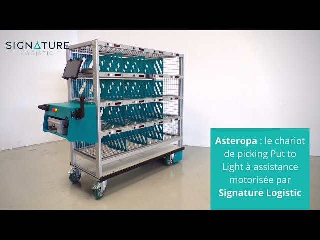 Asteropa - Chariot de picking Put to Light à assistance motorisée