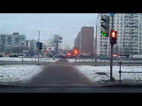 Странная работа светофора в Люберцах. Красная горка.