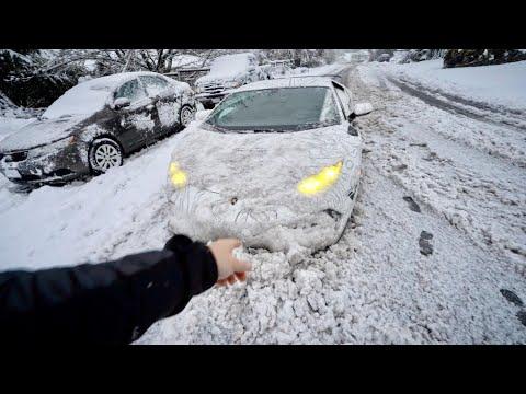Supercharged Lamborghini SNOW PLOW!