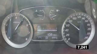 Nissan Tiida - acceleration 0-100 km/h (Racelogic)