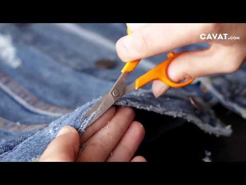 Chỉ Vài Bước Thôi Là Bạn Đã Tạo Ra Một Chiếc Áo Jean Rách Chuyên Nghiệp Rồi! - CAVAT.com