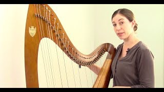 Tuning a Lever Harp in Eb, Harp Maintenance and Repair #3