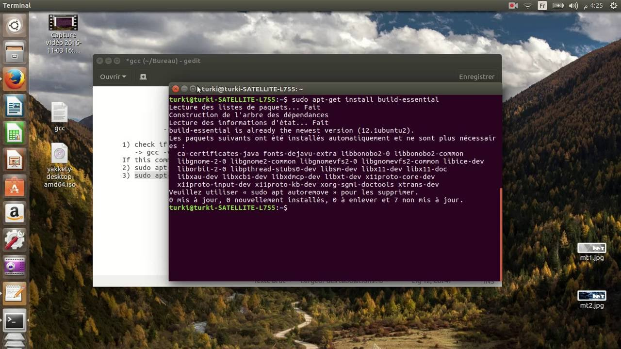 install gcc 7 ubuntu 16.04