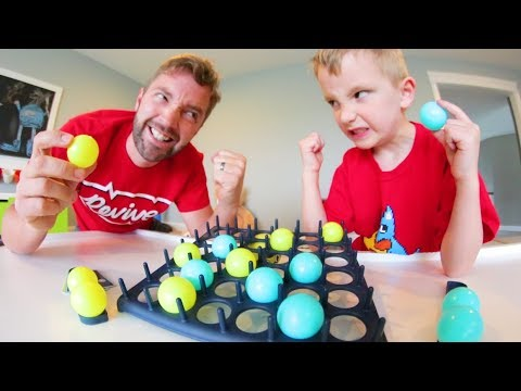 Father & Son PLAY BOUNCE OFF! / The Trick Shot Game!