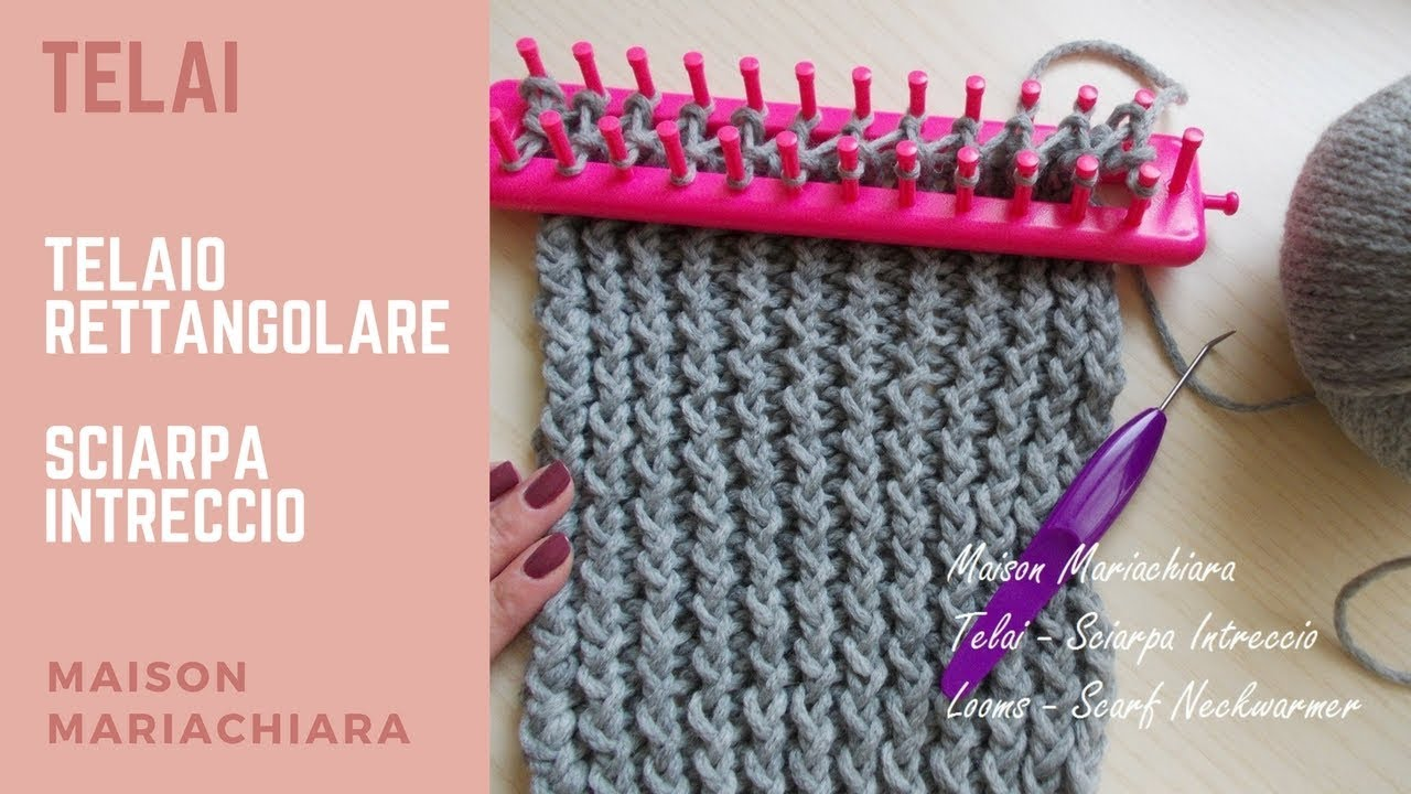 Telai Telaio Rettangolare Sciarpa Punto Intrecciato Knitting Looms Fashion Stitch