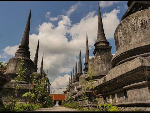 Thailand (Wat Mahathat, Nakhon, Lanta)  in flow motion