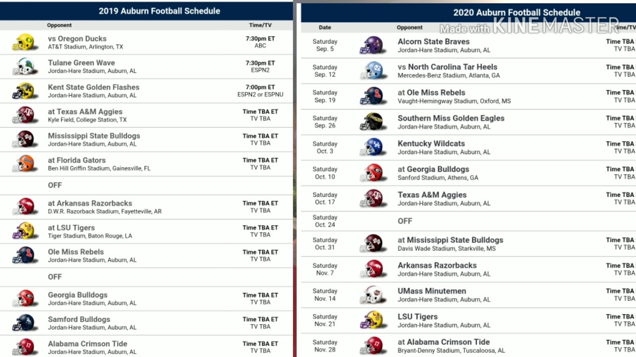 Auburn 2020 Football Schedule.Auburn Cries About Schedule Gets Spanking From Sec Office