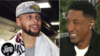 Download 'How do you defend that?'- Scottie Pippen is amazed by Steph Curry during Blazers sweep | The Jump Mp3 and Videos