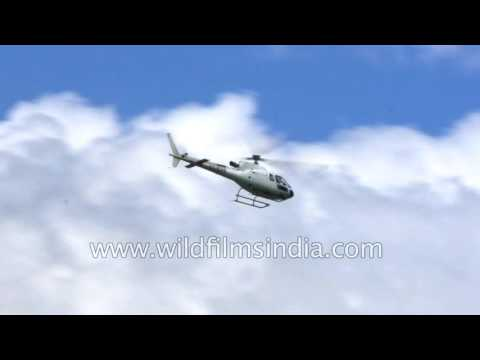 Choppers in the Himalaya: Helicopter services during Manimahesh Yatra in Bharmour