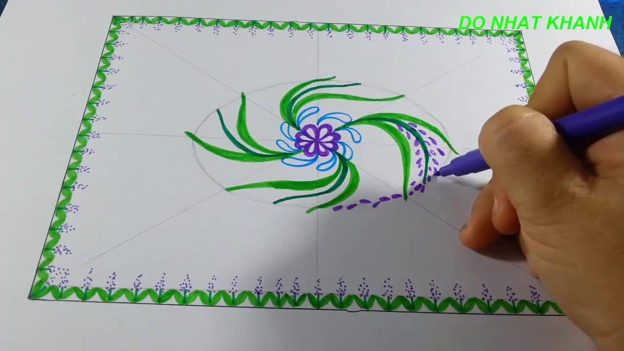 Vẽ Trang Trí Khăn Trải Bàn/ Drawing Tablecloth Decoration