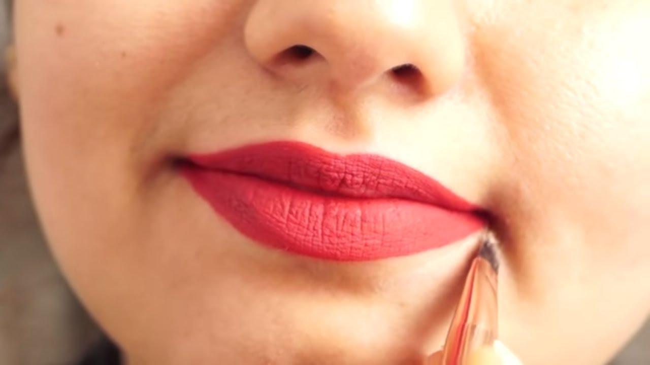 लिक्विड लिपस्टिक कैसे लगाए ? how to apply liquid lipstick for beginner -  YouTube