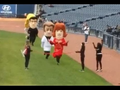 Running of the Country Music stars at the Nashville Sounds game