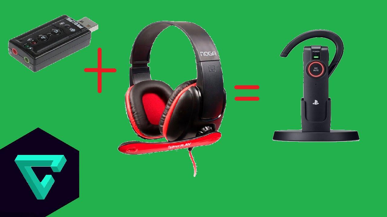 Como Conectar Auriculares De Pc A Una Ps3 Ps4 Placa De
