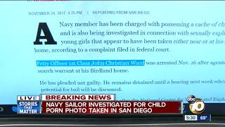 Navy sailor investigated for child porn photo taken in San Diego