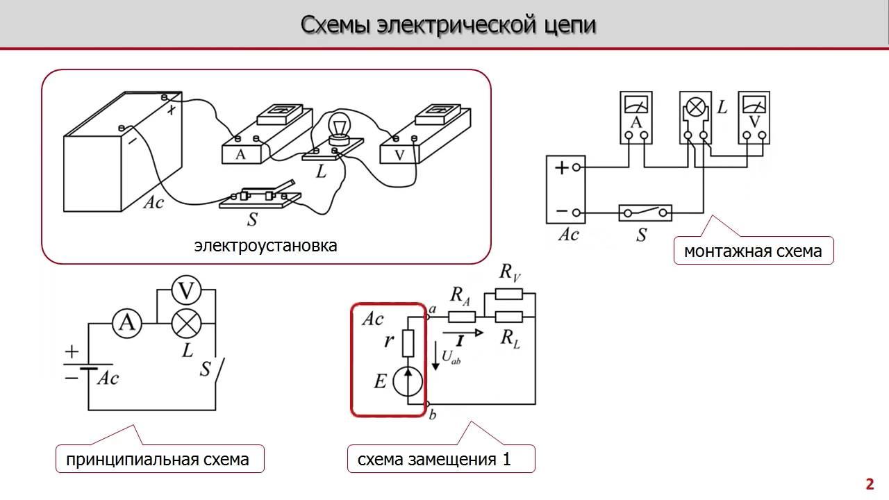 Электрическая цепь схема 1 класс фото 867