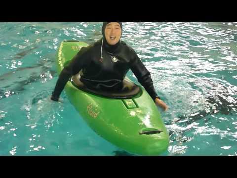 Greenland style kayak rolling - Forward finishing rolls in HD!