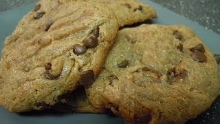 Flourless Peanut Butter Chocolate Chip Cookies | Gluten Free
