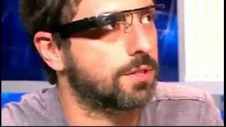 Google's Sergey Brin demoing Project Glass live on TV