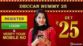How to register step by step| Get Rs 25 Bonus @ Deccan Rummy