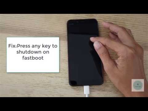 Fastboot Press any key to shutdown