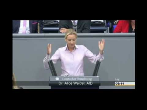 AfD Alice Weidel Kopftuchmädchen & Schreihals die Altparteien bekommen einen Einlauf