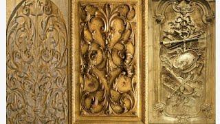 Beautiful decorative wood main door for modern home