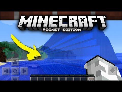 Cómo hacer un TSUNAMI en Minecraft PE!   Sin mods!   Minecraft: Pocket Edition 0.16.0 (MCPE)