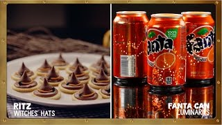 Ritz Witches Hats + Fanta Can Luminaries