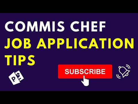 Commis Chef And Chef De Partie Job Application Tips - YouTube