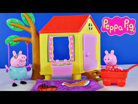 PEPPA PIG Tree House Episodes with Peppa's Friend Emily Elephant Peppapig Toys DCTC