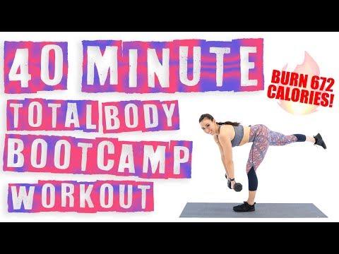 40 Minute Total Body Bootcamp ��Burn 672 Calories! ��