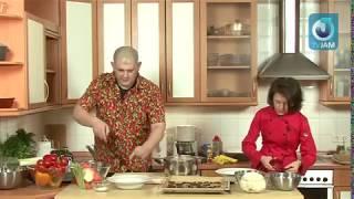 Постное меню  Грибной суп пюре с чипсами из шиитаке. Быть Сержем МаRковичем .