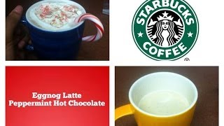 Diy Starbucks Winter Drinks!: Eggnog Latte,Peppermint Hot Chocolate! Thumbnail