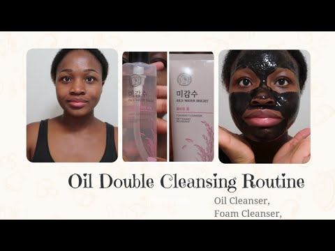 oil-double-cleansing-using-the-face-shop-rice-water-bright-cleansing-oil-+-foam-|-night-time-routine