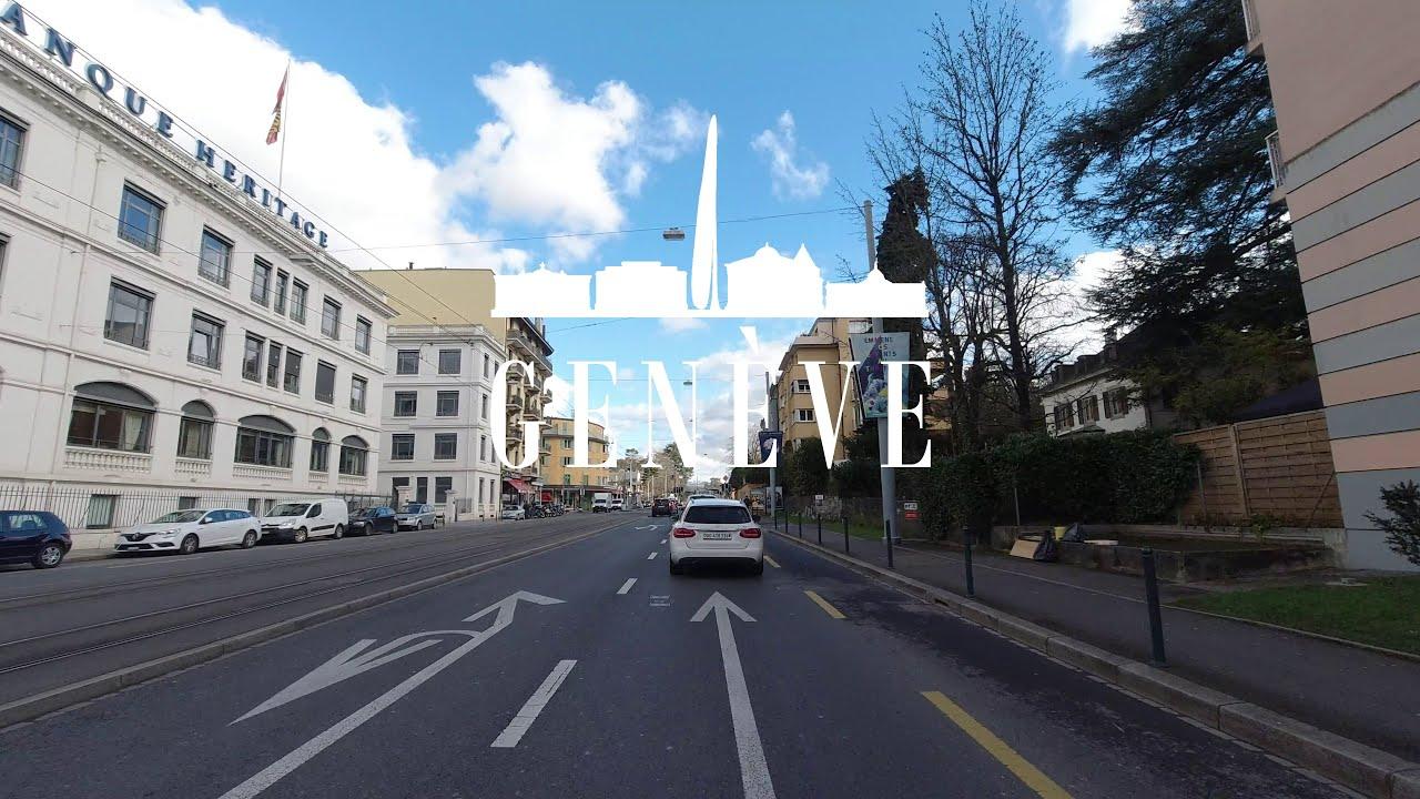 Download DRIVING GENEVE EAUX-VIVES TO ANNEMASSE (FRANCE) 🇨🇭 4K⁶⁰