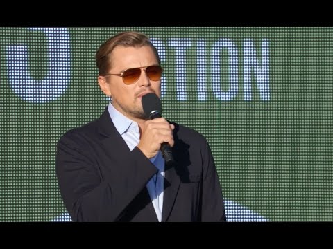 LEONARDO DICAPRIO at the Global Citizen Festival 2015
