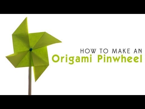 How To Make An Origami Pinwheel Youtube