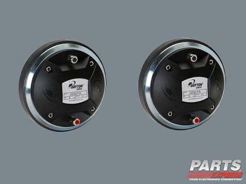 Dayton Audio D250T-8 & D250P-8 Compression Horn Drivers