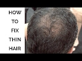 How to Fix Thin Hair