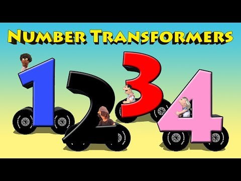 Number Transformers - Learn Numbers 0 - 15 Transforming Cars For Kids